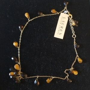 NWT Ralph Lauren Gold Necklace with Stones